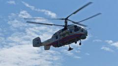 Rescue Helicopter Landing - stock footage