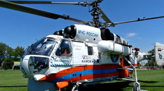 Rescue Helicopter Landing, Slow Motion - stock footage