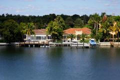 Waterfront real estate Miami Beach - stock photo