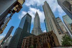 skyline from Third Avenue and East 43rd. st, nyc - stock photo