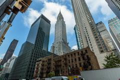 skyline from 3rd. avenue and East 43rd St., nyc - stock photo