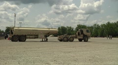 Camp Atterbury truck lorry vehicle Marshaling Yard Stock Footage