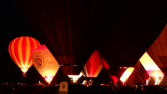Stock Video Footage of Playing with Hot Air Balloons in a night glow