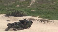 Assault Amphibious Vehicles AAV Amphibious assault, RIMPAC 2014 Stock Footage