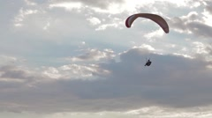 Paragliders ridge soaring, ridge lift, in Koktebel Crimea14 Stock Footage