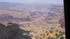 Grand Canyon zoom in on Colorado River Stock Footage