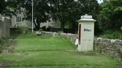 Tyneham village and phonebox Stock Footage