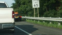 2050 Police Speeding to a Car Crash, 4K Stock Footage