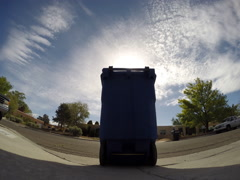 2D timelapse trashcan outside Stock Footage