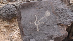 A petroglyph in Petroglyph National Monument Boca Negra Canyon Stock Footage
