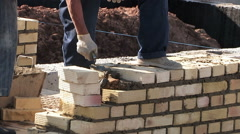 Work bricklayer - stock footage