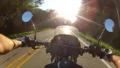 Motorcycle riding first-person point of view Stock Footage
