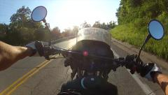 Motorcycle riding first-person point of view 2 Stock Footage