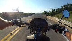 Motorcycle riding first-person point of view 3 Stock Footage