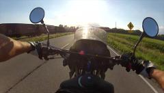 Motorcycle riding first-person point of view 4 Stock Footage