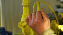 Close the valve - stock footage