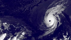 Iselle and Julie Hurricanes over Hawaii with alpha channel Stock Footage