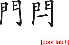 Chinese Sign for door latch Stock Illustration