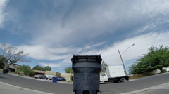 2D trash dump truck 2 Stock Footage