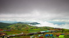 View on the mountains in the north of Thailand. Stock Footage