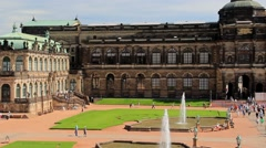 Dresden, Saxony, Germany. Zwinger palace - famous historic building Stock Footage