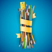 Batch of pencils - stock illustration