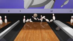 Bowling a Strike Stock Footage