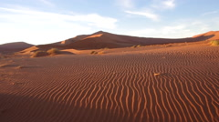 Sunrise in Sossusvlei - Namib Desert Stock Footage