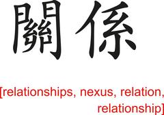 Chinese Sign for relationships, nexus, relation, relationship - stock illustration