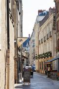 rue de la juiverie street in nantes, france - stock photo