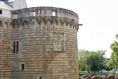 Tower of castle of the dukes of brittany in france Stock Photos