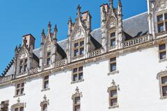Facade of palace in castle of dukes of brittany Stock Photos