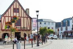Square donatien lepre, le croisic town, france Stock Photos