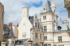 chateau on street rue de l'espine in anges, france - stock photo