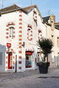 Stock Photo of street rue de salorges in le croisic town, france