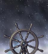 Navigating through the storm Stock Illustration