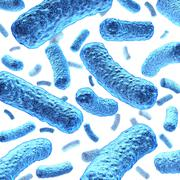 bacterium and bacteria - stock illustration