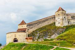 Medieval fortress in rasnov, transylvania, romania Stock Photos
