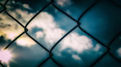 Chain Link Sky - stock photo