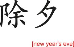 Stock Illustration of Chinese Sign for new year's eve