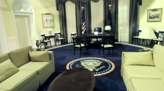 United States of America Government Oval Office and White House Interior Stock Footage