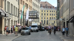 Stock Video Footage of Dresden, Saxony, Germany. Street in the old Town