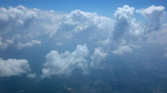 Soft Peaceful Clouds Moving By Quickly, as Seen From Air Stock Footage