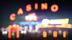 Night casino lights loop Arkistovideo