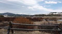 Winter Colorado mountain ranch - 2 clips - stock footage