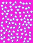 flat colorful star shape background - stock illustration