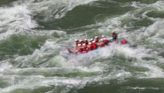 Adventure River Rafting British Columbia Canada Stock Footage