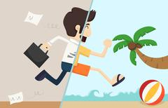 businessman relax - stock illustration