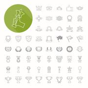 prizes & awards icons , thin icon design - stock illustration