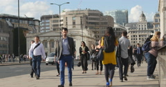 Over population, crowds in London 4K - stock footage